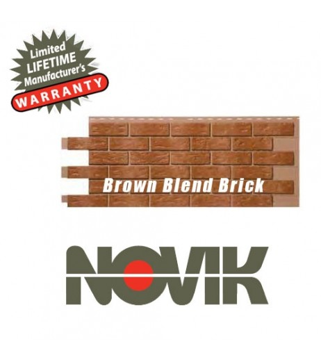 Novik Brown Blend Brick Skirting panel